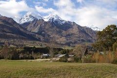 Zet Larkins Glenorchy Nieuw Zeeland op Stock Afbeelding