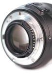 Zet lens op stock fotografie