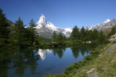 Zet Matterhorn op nadenkt stock afbeelding