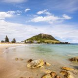 Zet Maunganui Nieuw Zeeland op Royalty-vrije Stock Foto's
