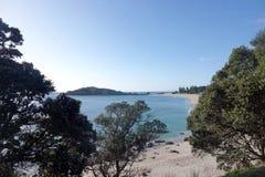 Zet Maunganui-strand in Tauranga, Nieuw Zeeland op royalty-vrije stock foto's