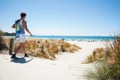 Zet Maunganui-strandscènes op Stock Foto