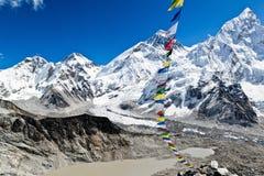 Zet Mening Everest in Himalayagebergte, Nepal op Stock Afbeeldingen