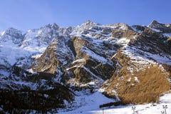 Zet met Prijsgletsjer op (Prijs Gletscher) in Saas-Prijs Royalty-vrije Stock Fotografie