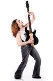 Zet mijn gitaar op Stock Foto