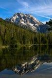 Zet Moran-berg in Tetons in de Westelijke Verenigde Staten op stock afbeeldingen