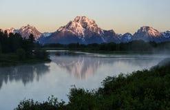 Zet Moran Sunrise op Stock Afbeelding