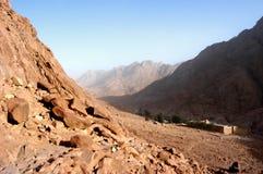 Zet Mozes, Sinai op royalty-vrije stock afbeeldingen