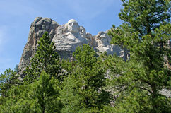Zet Nationaal Gedenkteken Rushmore op royalty-vrije stock afbeelding