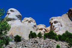 Zet Nationale Herdenkingsrushmore de Bodemmening op van Rushmore stock foto's