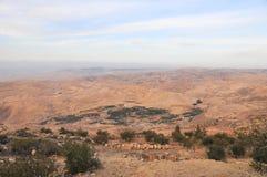 Zet Nebo in Jordanië op Stock Afbeeldingen