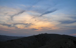 Zet Nebo in Jordanië op Royalty-vrije Stock Afbeeldingen