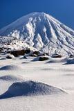 Zet Ngauruhoe, Tongariro Nationaal Park, Nieuw Zeeland op Stock Afbeeldingen