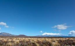 Zet Nguaruhoe-Landschap, het Nationale Park van Tongariro op royalty-vrije stock afbeeldingen