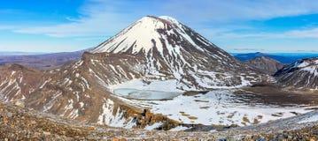 Zet Noodlot en de Zuidenkrater in het Nationale Park van Tongariro op, royalty-vrije stock foto's