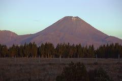 Zet Noodlot op van Nationaal Park bij zonsondergang wordt gezien die stock fotografie