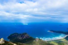 Zet Oberon-Topgang en Vooruitzicht, Wilsons-Voorgebergte Nationaal park op stock fotografie