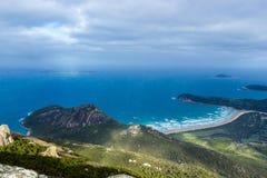 Zet Oberon-Topgang en Vooruitzicht, Wilsons-Voorgebergte Nationaal park op stock afbeelding