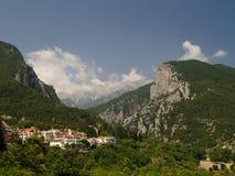 Zet Olympus op - hoogste piek in Griekenland Stock Fotografie