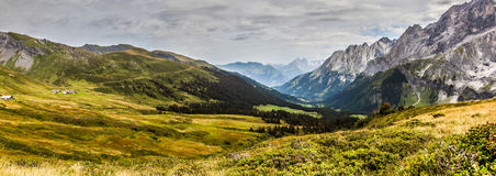 Zet Panorama Schwarzhorn op Stock Foto's