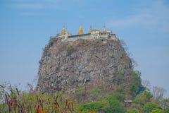 Zet Popa Temple op Royalty-vrije Stock Foto