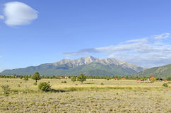 Zet Princeton, Colorado 14er in Rocky Mountains op Stock Afbeeldingen