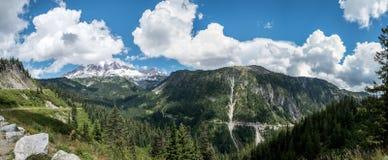 Zet Rainier Panorama op Stock Afbeelding