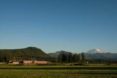 Zet Regenachtiger en Landelijk Landbouwbedrijf op Royalty-vrije Stock Foto's