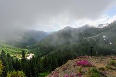 Zet Regenachtiger op gehuld in Wolken stock afbeelding