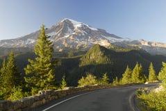 Zet Regenachtiger van een bergweg op Stock Afbeeldingen