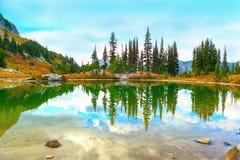 Zet Regenachtiger, Washington op stock foto's