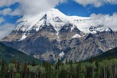 Zet Robson, het Nationale Park van de Jaspis, Canada op Stock Foto