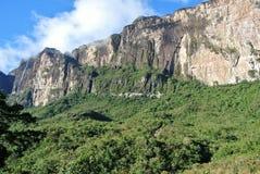 Zet Roraima bij Venezuala Brazilië en de grens van Guyana op royalty-vrije stock foto