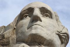 Zet Rushmore- George Washington op stock foto
