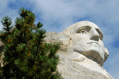 Zet Rushmore George Washington op Stock Foto's