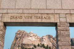 Zet Rushmore-mening op royalty-vrije stock foto's