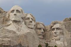 Zet rushmore nationaal gedenkteken op stock fotografie
