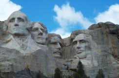 Zet rushmore nationaal gedenkteken op stock foto