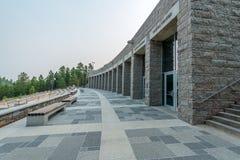 Zet Rushmore Nationaal Herdenkingslincoln borglum visiter center op stock afbeeldingen