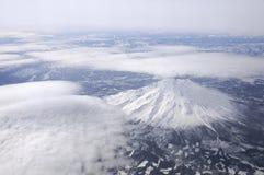 Zet Shasta van 35.000 voet op Royalty-vrije Stock Afbeelding