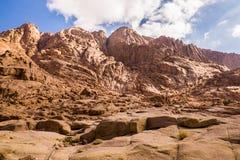 Zet Sinai op Egypte Stock Foto
