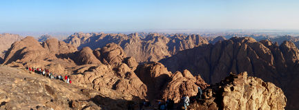 Zet Sinai Panorama op Stock Foto's