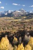 Zet Sneffels-Bergketen in de Herfst op Stock Fotografie