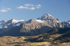 Zet Sneffels-Bergketen in de Herfst op Royalty-vrije Stock Foto's