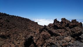Zet Teide over de wolken op Royalty-vrije Stock Afbeeldingen