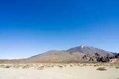 Zet Teide in Tenerife op Royalty-vrije Stock Foto's