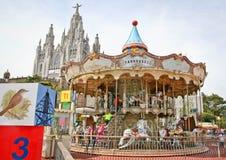 Zet Tibidabo, Barcelona op Royalty-vrije Stock Foto's