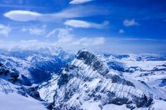 Zet Titlis, Zwitserland op royalty-vrije stock foto