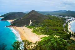 Zet Tomaree-Vooruitzicht, NSW, Australië op royalty-vrije stock afbeeldingen