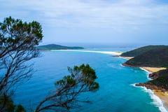 Zet Tomaree-Vooruitzicht, NSW, Australië op stock afbeelding